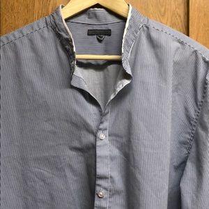 John Varvatos Mandarin Collar Button Down Shirt